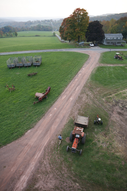Silo (Aerial view of the farm)