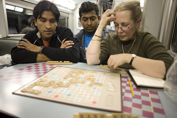 Scrabble on the Train